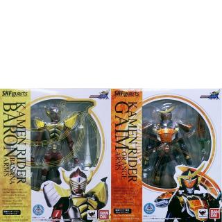 S.H.Figuarts  Masked Rider Gaim  Kamen Rider Gaim & Baron + Bonus Free Gift